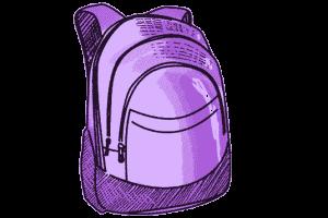 Schulrucksack lila