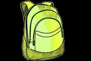 Schulrucksack neon