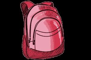 Schulrucksack rot