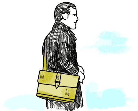 Schultasche fuer Lehrer aus Leder