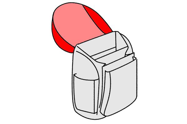 Deckelöffnung Schulranzen