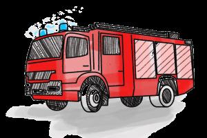 Feuerwehr Schulranzen Motiv