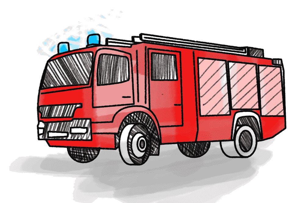 Feuerwehr Fire Schulranzen Motiv