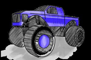 Monstertruck Schulranzen Motiv