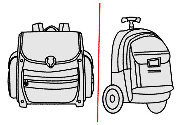 Schulranzen versus Schultrolley