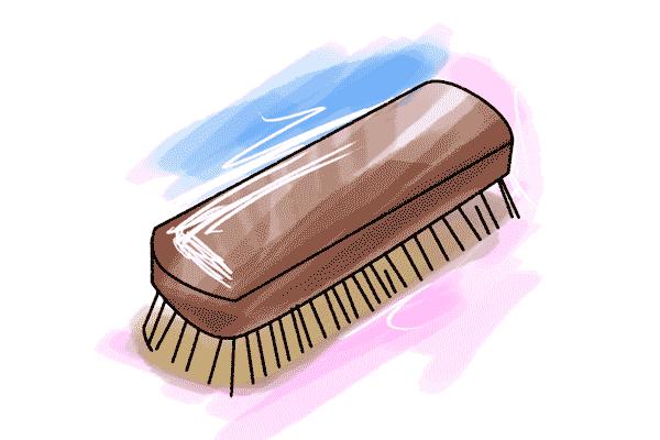 Schulranzen reinigen - Bürste Illustration