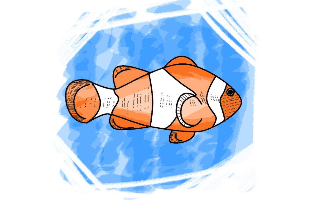 Unterwasserwelt Fisch Schulranzen Motiv