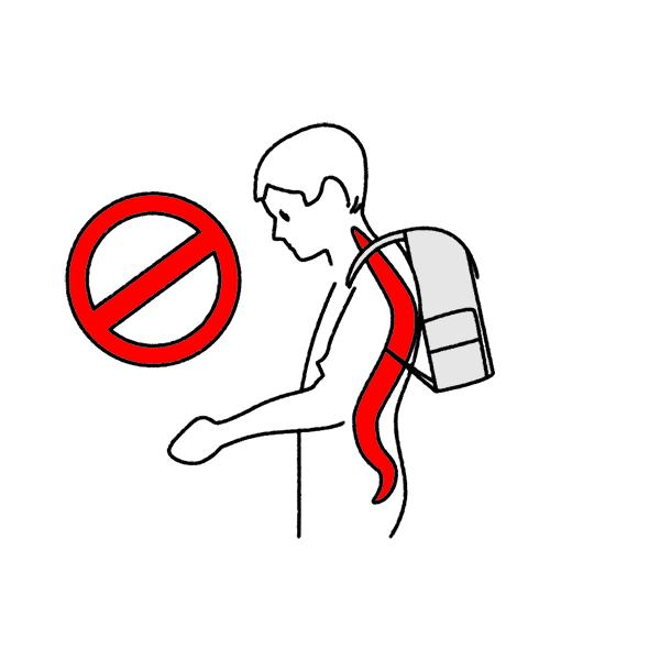 Schulranzen richtig packen und einstellen - falsch getragene Schultasche durch Vorbeugen